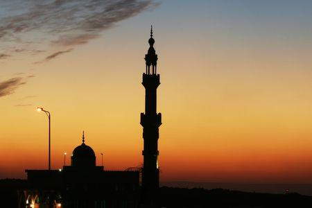 minaret: Minaret in Cairo Stock Photo