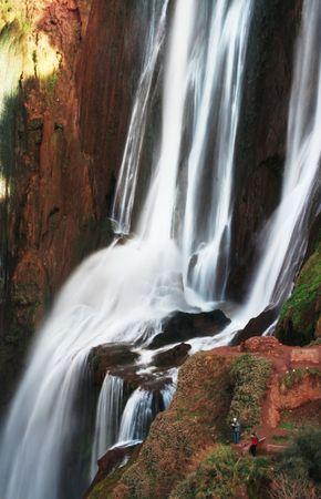 Waterfall in Morocco, Africa - Cascadd Ouzud. photo