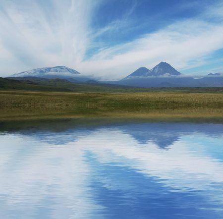 Volcano on Kamchatka photo