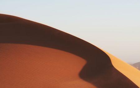 inhospitable: Dune in desert