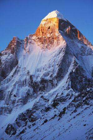 shivling: High mountain peak Stock Photo