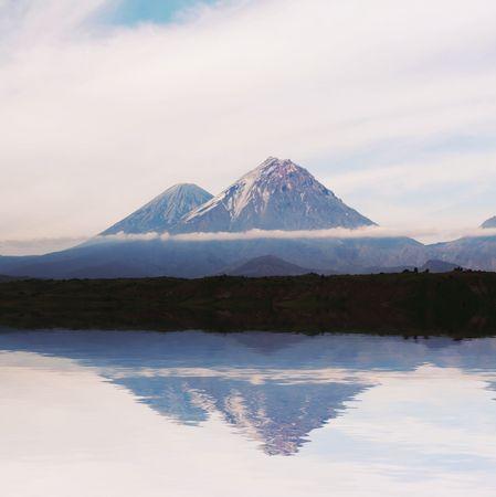 kamchatka: Vulcano in Kamchatka, Russia Archivio Fotografico