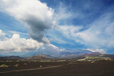 kamchatka: Vulcano in Kamchatka Archivio Fotografico