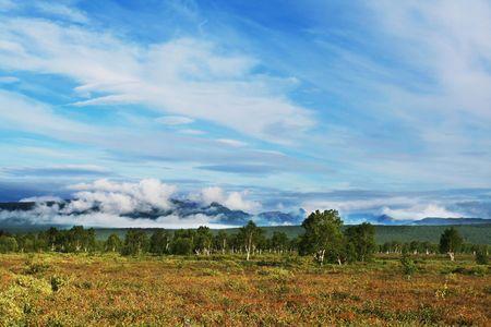 kamchatka: Montagne panorama sulla Kamchatka Archivio Fotografico