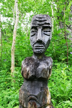 woodland sculpture: Sratue