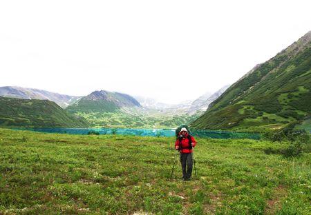 kamchatka: Escursionista in Kamchatka