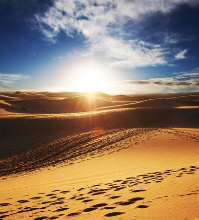 desierto: Desierto del S�hara  Foto de archivo