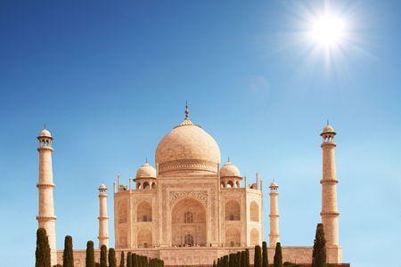 Taj Mahal construction photo