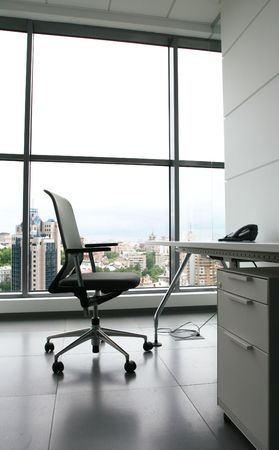 ergonomic: Chair in office Stock Photo