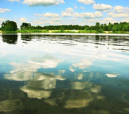 Lakes scene Stock Photo - 3213026