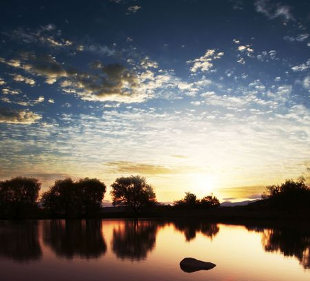 Lakes scene Stock Photo - 3213024