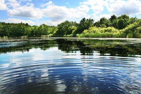 Lakes scene Stock Photo - 3255278