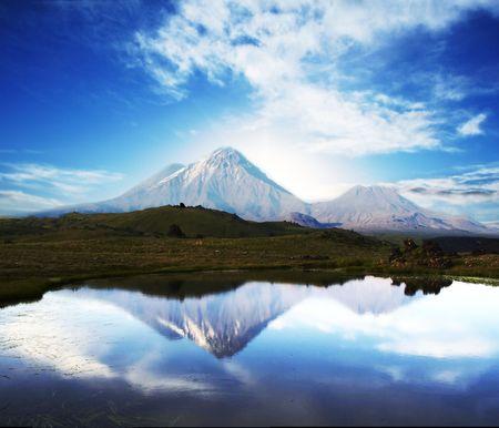 kamchatka: Volcano  on Kamchatka Stock Photo