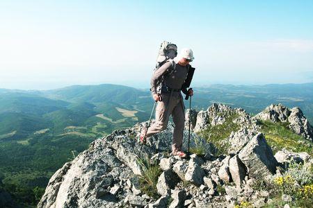 Male in hike photo