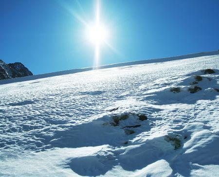 Sun and snow Stock Photo - 3267437