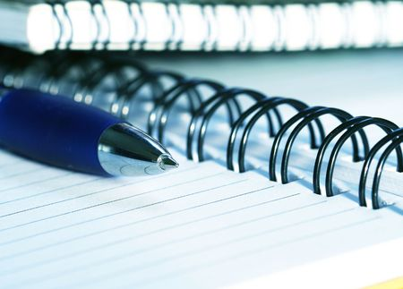 Notebook close-up Stock Photo - 3283252