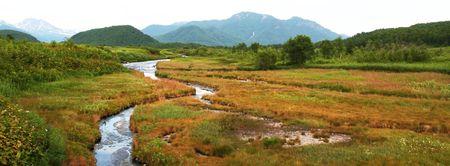kamchatka: Mountains landscape on Kamchatka Stock Photo