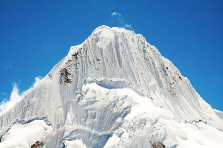 alpamayo: Beautiful peak Alpamayo in the Cordilleras