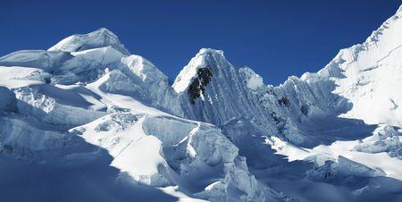 alpamayo: Snow mountain in the Cordilleras Stock Photo