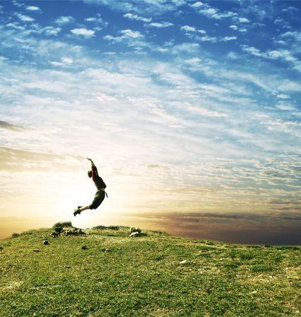 air jump: jumping girl