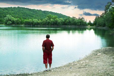 Summer lake Stock Photo - 3415348