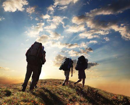 Hiking scene photo