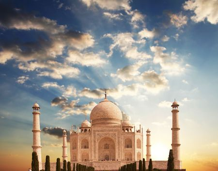 mahal: Taj Mahal palace Stock Photo