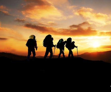 Hiking scene Stock Photo - 3671331
