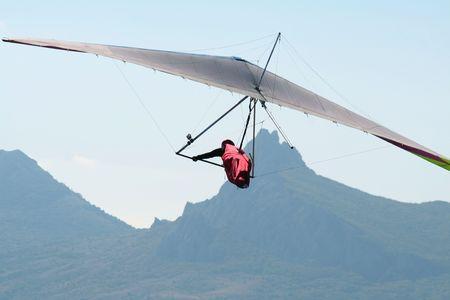 gliding: Hang-glider