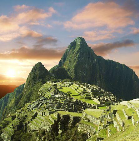 the lost city of the incas: Machu-Picchu