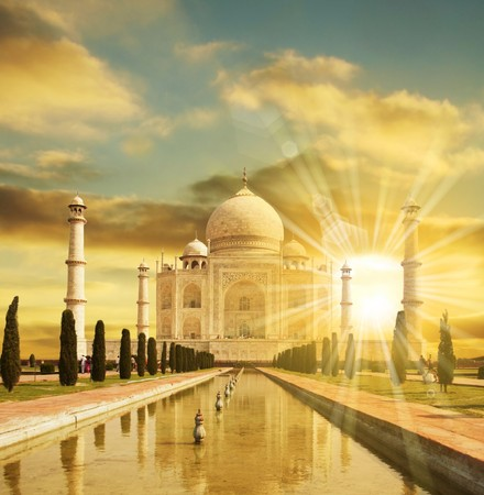 monument in india: Taj Mahal palace Stock Photo