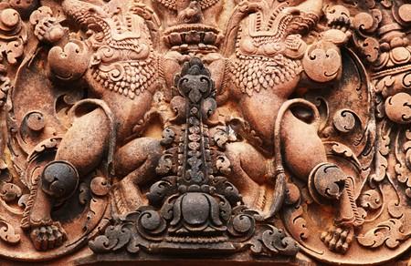 angkor: decor in Angkor city Stock Photo