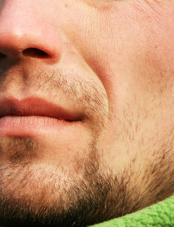 Mans lips photo