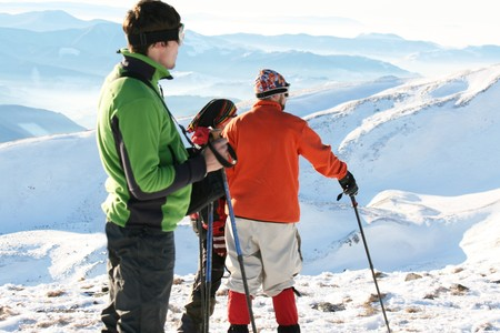 Hike in winter mountains Stock Photo - 4205218
