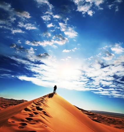 africa sunset: Sahara