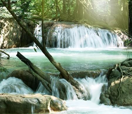 paisajes: Cascada Foto de archivo
