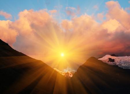 mountains at dark Фото со стока - 4470018