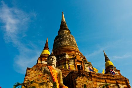the stupa: Temple in Thailand