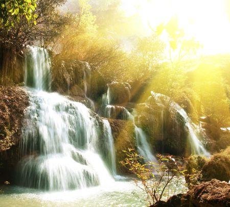 Water cascade Stock Photo - 4661460
