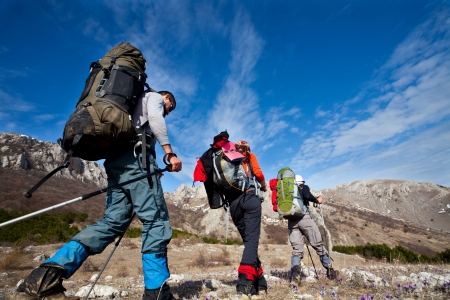 People in mountains Stock Photo - 4679630