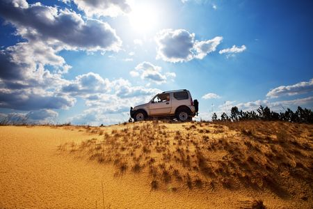 Jeep off road Stock Photo