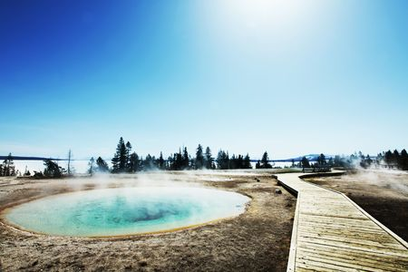 Mammoth Hot spring photo