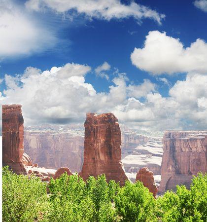 messa: Blue messa in Painted desert Stock Photo