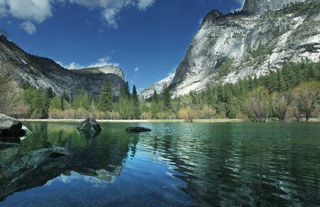 Yosemite lake photo