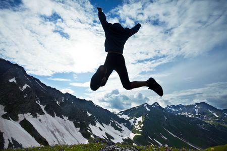 Jumping boy Stock Photo - 5226439