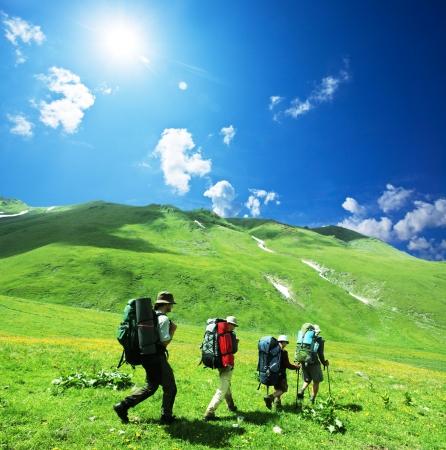 kletterer: Die Menschen in den Bergen