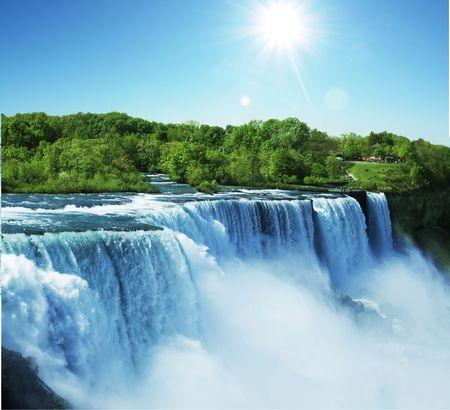 waterfall: Niagara waterfall