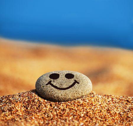 Pebble on beach photo