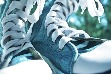 trekking boots close up photo