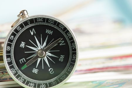 orienting: compass Stock Photo